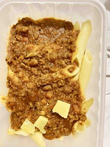 Very dodgy looking pasta bolognaise